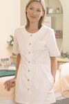 women dental health care tunic