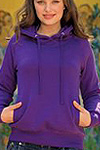 womens beach fitted hoodie
