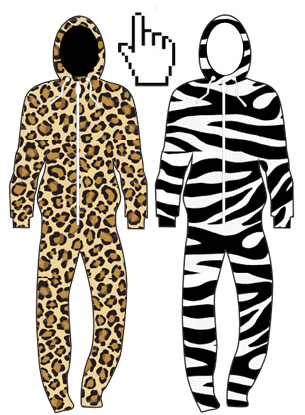 animal print leopard and zebra onesies